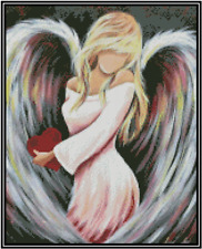 Angel with Heart Counted Cross Stitch Chart No.49-109