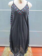 "Anthropologie Kyla Seo Embroidered Asymmetrical Hem ""Milca"" Dress Sz S NWT"