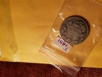 Canada 1902 H 25 Cent Rare Silver Coin ID#T1851.