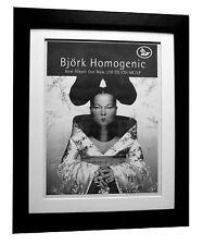 BJORK+Homogenic+ALBUM+POSTER+AD+RARE+ORIGINAL+1997+FRAMED+EXPRESS GLOBAL SHIP