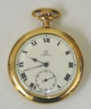 Omega Gold Plated Jewelled Lever Pocket Watch - £475