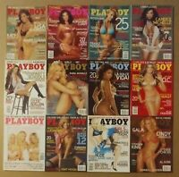 Playboy Magazine 2006 Complete 12 Issues Cindy Margolis WWE Candice Michelle