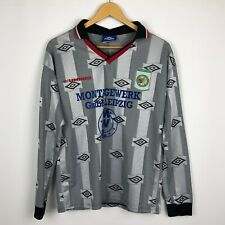 Vintage FC Sachsen Leipzig Umbro football shirt soccer jersey 1990s Young