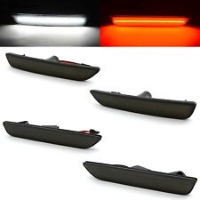 Smoked Lens Front & Rear Side LED Marker Lights Set For 2010 - 2014 Ford Mustang