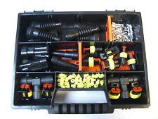 AMP Superseal Stecker 2-polig mit T-Verteiler Gummitüllen,Motorrad Ducati,Honda