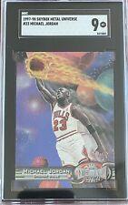 1997-98 Metal Universe #23 Michael Jordan SGC 9 MINT BULLS HOF GOAT