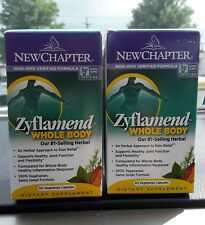 NEW CHAPTER ZYFLAMEND WHOLE BODY PAIN RELIEF 120 CAPSULES EXP 09/2021
