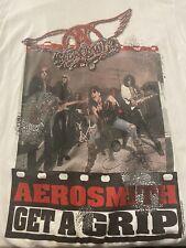 Vintage 90's AEROSMITH GET A GRIP  1993 Concert Tour  ROCK BAND MUSIC TSHIRT EUC
