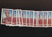 1991 Topps Glow Card Back UV Variant  Reds Barry Larkin #400 #730 Lot of 25