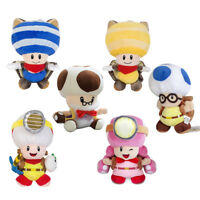 Super Mario Plush Doll Captain Toad & Flying Squirrel Blue/Yellow Toad Toys Gift