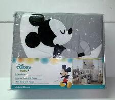 New listing New Lambs & Ivy Disney Baby Nursery Crib Bedding Set Mickey Mouse Gray Yellow 4