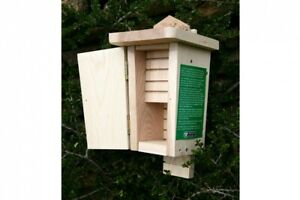 Double Chamber Bat Box | Wildlife Nesting Insulated House Solid FSC Wooden Wall