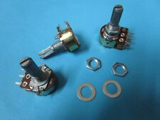 10 pcs A50K Dual Log Taper Potentiometer Pots 20mm S Shaft 6pin with Nut Washer