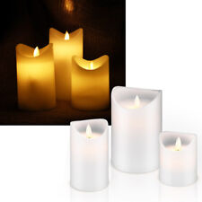 "LED Echtwachs-Kerze /""GLOW/"" glimmend mit TIMER Wachs-Struktur flackernd Kerzen"