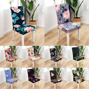Floral Printing Chair Cover Elastic Banquet Fully Wrapped Hotel Fashion Decor