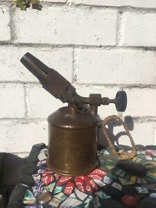 Vintage Genuine  Brass Max Sievert Benzoline Blow Lamp Torch 3/4pt 0.4ltr