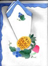lot  2 + 1 SETS DE TABLE avec leur serviette  faits Main neufs prix kdo  A VOIR