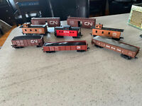 Lot of 8 Vintage CN Freight Trains, HO Scale.