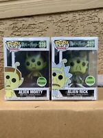 FUNKO POP! Alien Rick Morty SET Spring Convention *NEW *Exclusive *Protectors