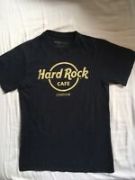 Hard Rock Cafe London Big Logo T Shirt Navy Blue Size S Excellent Condition