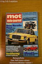MOT 16/74Alfa Alfasud ti MB 240 D 3.0 /8 Opel Kadett L
