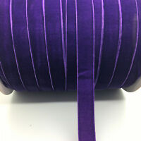 "5yds 5/8 ""16mm Vintage Purple Velvet Ribbon Headband Clips Bow Wedding Craft"
