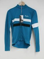 RAPHA Men's Teal Blue Wool Blend Long Sleeve Brevet Cycling Jersey XS BNWT