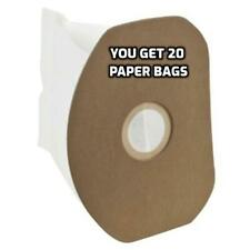 20 Paper Bags for Eureka 62370A-10 Sanitaire SC412A Back Pack Vacuum Cleaner