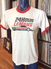 Vintage 1980s LeMans 24 Hour Castrol Jaguar Auto Car Racing Screen Stars T-shirt