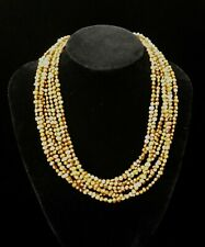 SILPADA Copper FRESHWATER PEARL BEAD Multi-Strand Necklace • N1366 • MINT!