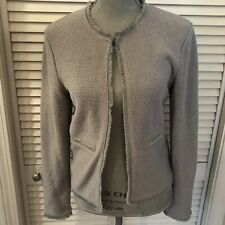 Kettlewell Paris Textured Jacket Blazer Gray Autumn Winter 17 217 Sz Small