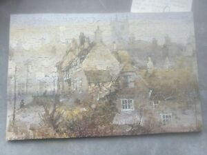 Vintage Puzzleplex whimsies Village of Corfe Castle wooden jigsaw 434pc complete