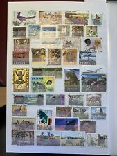 Stockbook Page Of Stamps From Zambia (Alb 40)