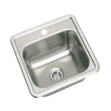 Elkay Dayton Drop-in Stainless Steel 15 in. 1-Hole Bar Single Bowl Kitchen Sink