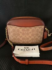 NWT Coach 31208 Camera Rust/Brass Bag Shoulder Crossbody in Signature Canvas!