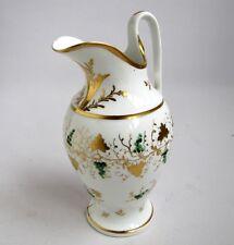 Pichet Aiguière Raisin Or et Email époque Louis Philippe Porcelaine Paris 1830