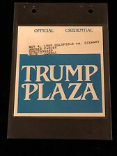 TRUMP PLAZA -HOLYFIELD VS. STEWART BOXING-OFFICIAL SECURITY PASS CREDENTIAL-1989