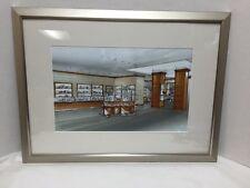 "Tiffany & Co New York Interior Store Rendering Framed Remodel Vintage 24x18"""