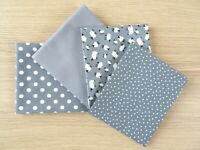 5 FAT QUARTER BUNDLE 100/% COTTON PATCHWORK CRAFT FABRIC ~ NAVY LEMON BEE