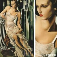 "24W""x40H"" PORTRAIT MDE ALLAN BOTT by TAMARA DE LEMPICKA - LADY CHOICES of CANVAS"