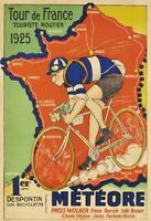 Tour de France 1925 Blechschild Schild gewölbt Metal Tin Sign 20 x 30 cm