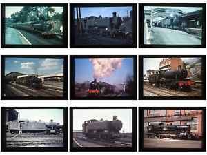 18 Duplicate steam railway colour slides -  Western Region