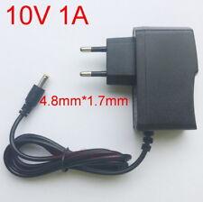 AC / DC 10V 1A Switching power adapter  EU Supply plug DC 4.8mm x 1.7mm 1000mA