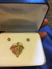 Black Hills Gold Pendant And Earrings Very Nice Set