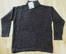 Peruvian Connection Sweater Mock Neck Boxy Tunic Alpaca Cotton Blend NWT Size M