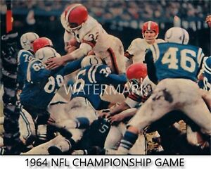 1964 NFL CHAMPIONSHIP GAME JIM BROWN PHOTO/POSTER/PRINT (comes in 3 sizes)
