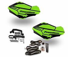 Powermadd Sentinel LED Handguards Black / Green Mount Ski Doo Hayes Snowmobile
