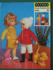 "VINTAGE KNITTING PATTERN DOLLS CLOTHES IMPERIAL 1970s TO FIT 10 - 20"" DOLL"