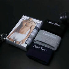 Calvin Klein Men's CK Boxers Low Rise Trunks Underwear 3 in a pack with Box UK