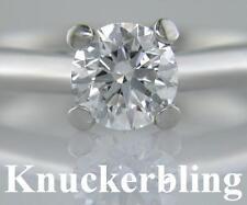 Platinum Excellent Cut Round SI1 Fine Diamond Rings